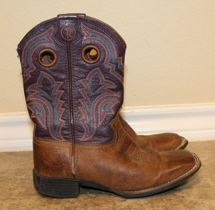 Tony Lama LL505 Kids Cowboy Collection Western Boot Wide Square Toe USED #TonyLama #Boots