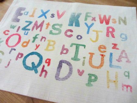 Easy ABC Place Mat - Alphabet For Starters - No Time For Flash Cards