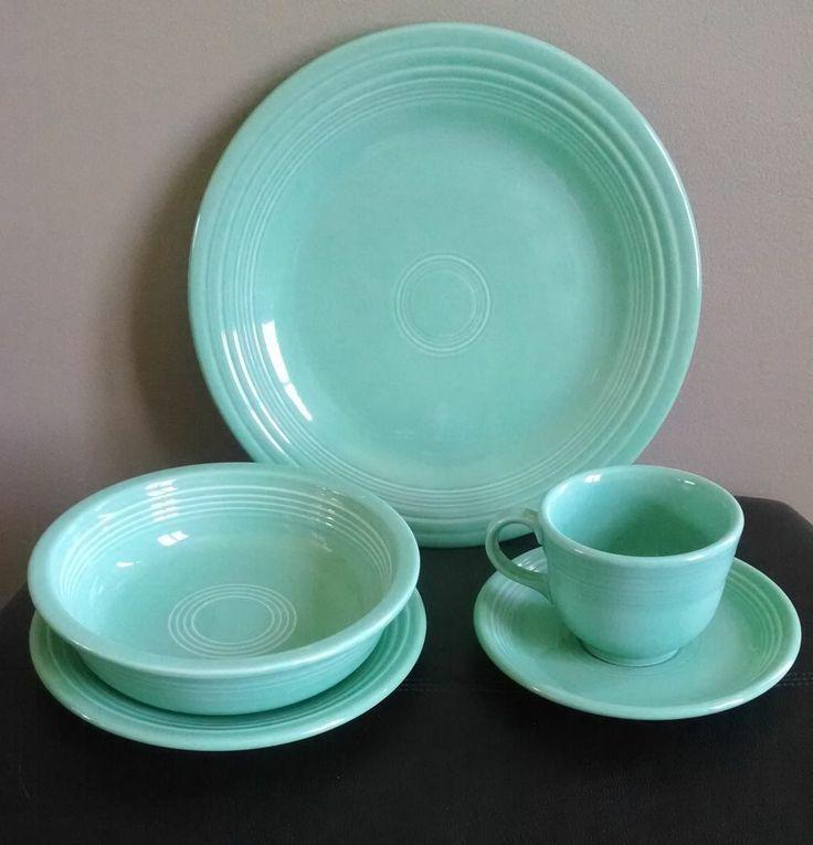 Sea mist green 5 piece Fiestaware mint green dinner set