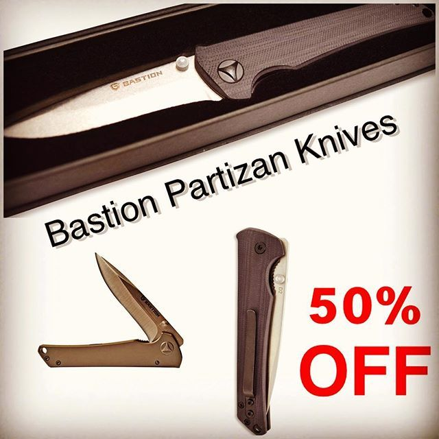 1 DAY SPECIAL 👆🏻🔥😎 Bastion Partizan Knives 50% OFF 👍🏻✌🏻👊🏻 Light weight, very smooth and durable! This knives are worthy to be a part of everyday carry 😉 #bastionllc #bastiongear #bastionedc #edcgearsale#bastionknives #edcknives #bestknives#edcknivesforsale #knivesdaily #knivesofinstagram