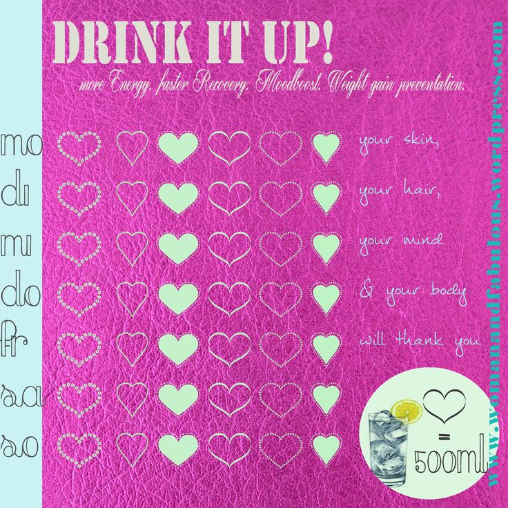 drink it up Checkliste!  Everyone knows how important it is to be hydrated and drink enough water... but nevertheless so many people just don't!   So I made a 'drink it up' #checklist for you to #print  every #heart stands for 500mL of water! like a little #water #calendar  The days are in #german but you'll get the hint    Its on: http://womanandfabulous.me/ #drinkwater #healthy #water #fitness #healthylifestyle #drink #lifestyle  #wasser #trinken #gesundeernährung #gesund #blog