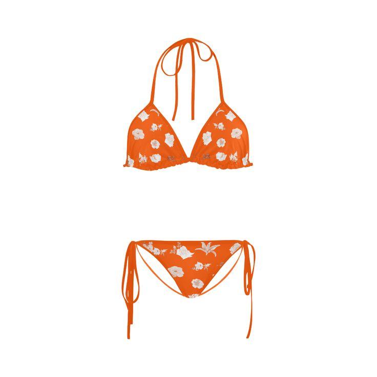 New arrival : Designers Bikini Collection in fresh Orange color. Special : hand-drawn ornamental Art Custom Bikini Swimsuit