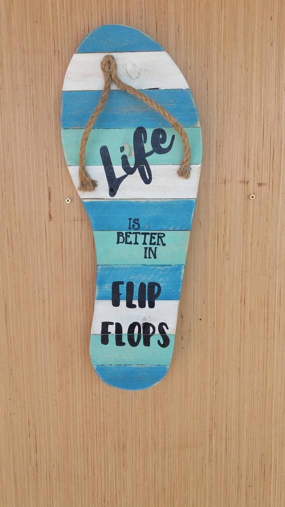Flip Flop Wall Decor Life Is Better In Flip Flops Quote Sign