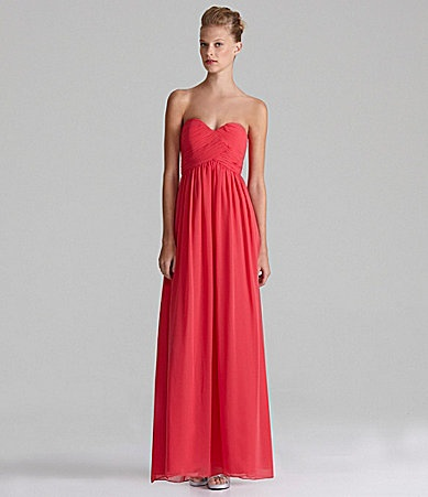 Calvin Klein Strapless Sweetheart Gown #Dillards @Karen Leigh