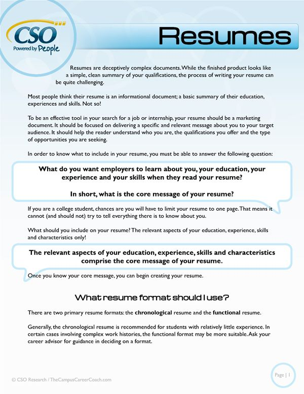 66 best Resumes\/CVs\/Cover Letters images on Pinterest Resume - what should your resume look like
