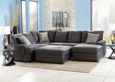 Charming Dylan Charcoal 3 Pc. Sectional