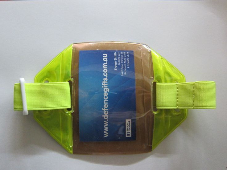 Defence Gifts - ARMBAND ID CARD HOLDER Reflective Yellow  , $6.00 (http://www.defencegifts.com.au/armband-id-card-holder-reflective-yellow-with-adjustiable-velcro-strap/)