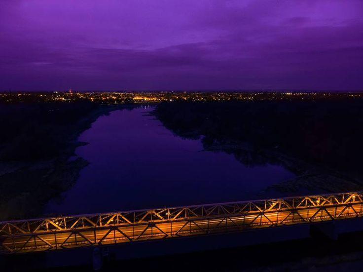 Nowa Sól nocą. Foto:Karol Kolba