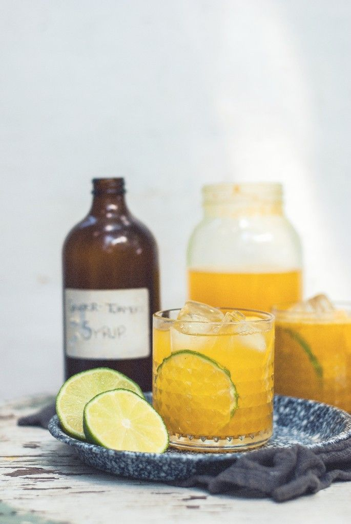 Spicy ginger turmeric lemon-limeade
