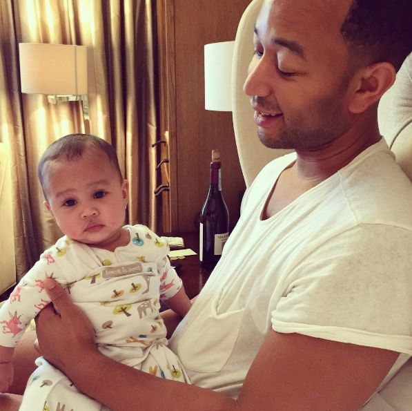 WOAH!: John Legend and Chrissy Teigen's Baby Daughter Luna Looks Just Like Her Famous Parents in Cute New Photo