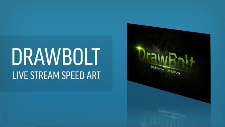 This is a speed art of me making a live stream banner for DrawBolt.