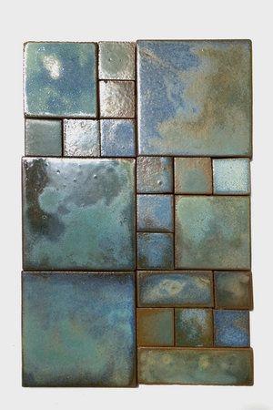 Watercolor Celadon & Teal- Batchelder Revival Craftsman tiles