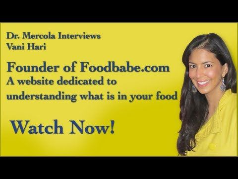 Dr. Mercola and Vani Hari Discuss the Food Industry. Amazing interview about our food, GMOs, chemical in our food, our health, and the astounding efforts of Vani Hari for clean food!  Thank you Vani! :)