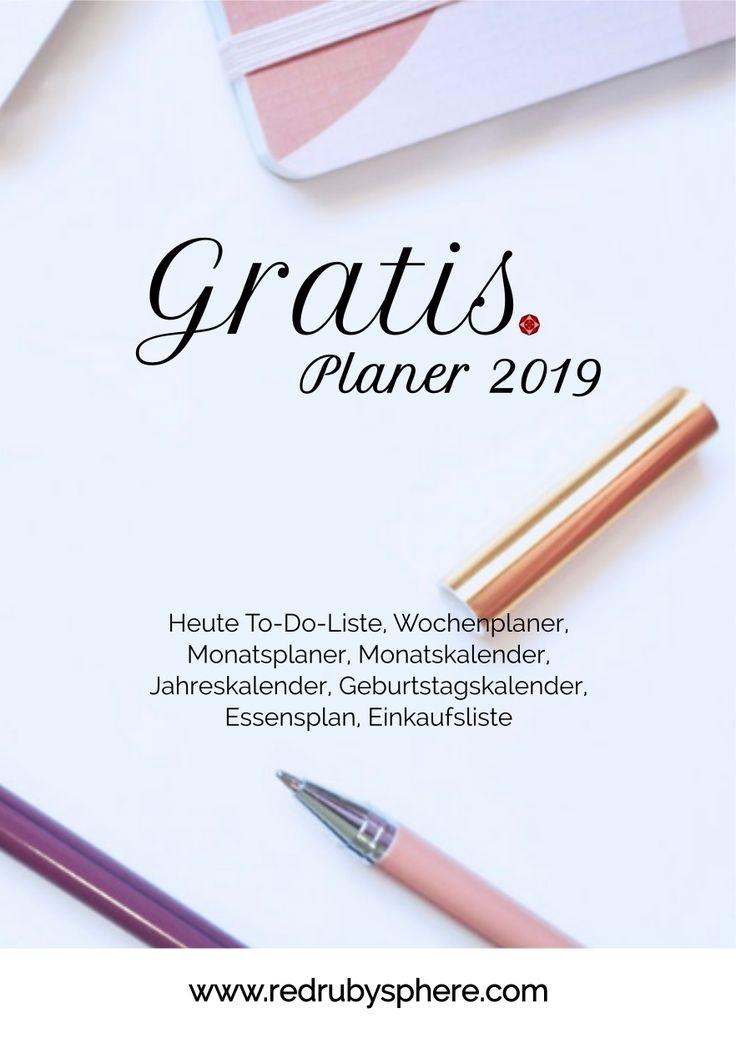 Gratis Vorlagen für Planer 2019