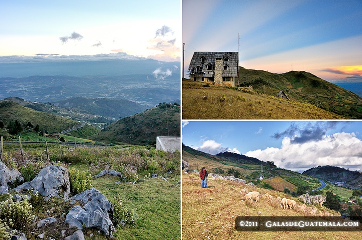 "Triptych of the hight point of the Cuchumatanes, Viewpoint Juan Dieguez Olaverri, better known as the ""Mirador de la Cumbre"" Chiantla, Huehuetenango (Triptico de la Cumbre de los Cuchumatanes, el Mirador Juan Dieguez Olaverri, mejor conocido como mirador de la Cumbre en Chiantla, Huehuetenango)"