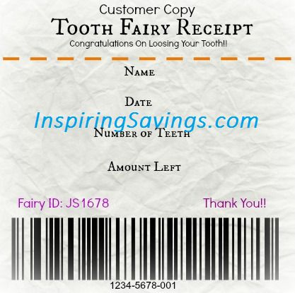 36 best Tooth Fairy Dreams images on Pinterest Kids, Teeth and - make a receipt free