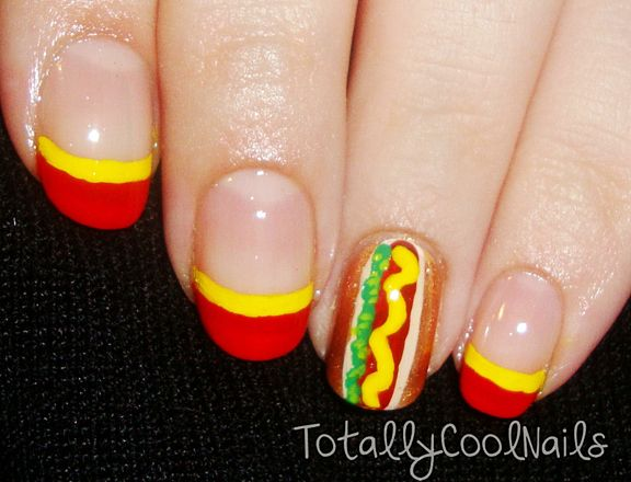 Memorial Day Nail Art check out www.ThePolishObsessed.com for more nail art ideas.
