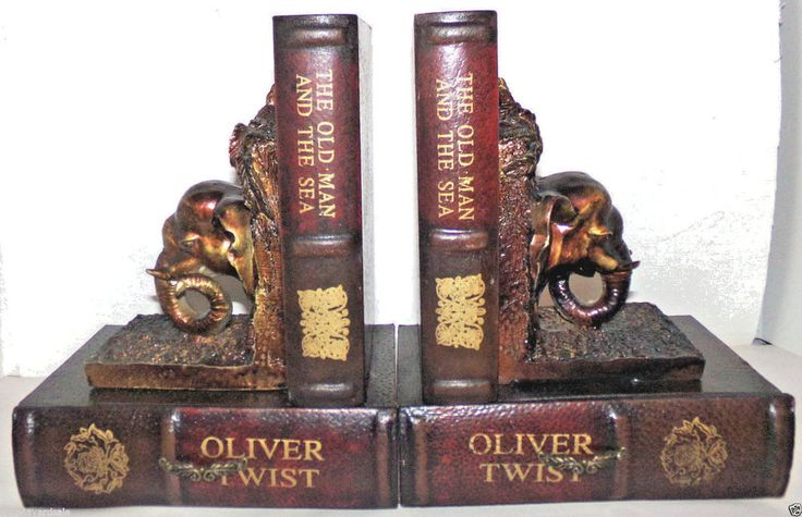 Bookends Elephant Heads & Classic Books w/Hidden Storage Drawers  #Unbranded #Traditional #Bookends