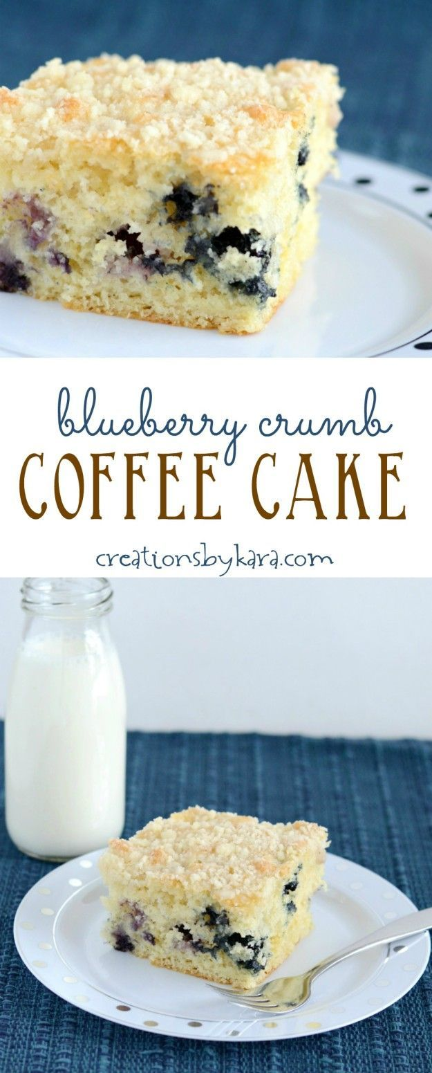 Bursting with blueberries and topped with a buttery crumb topping, this Blueberry Coffee Cake is always a hit for breakfast and brunch!