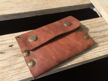 Wallet, long leather wallet, mens chain wallet.