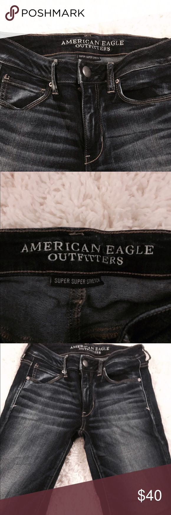 • American eagle jeans These jeans have been worn for 8 hours if that • worn once for an interview • I don't trade • do not low ball me American Eagle Outfitters Pants Skinny