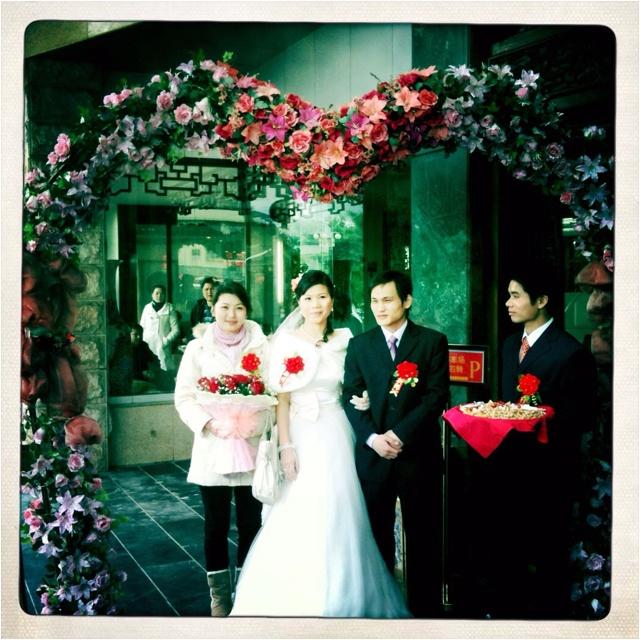 Chinese wedding in Yangshuo, Guilin, China.