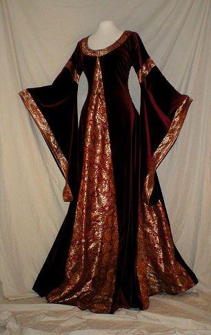 Medieval Costumes - Bag Sleeve Dresses