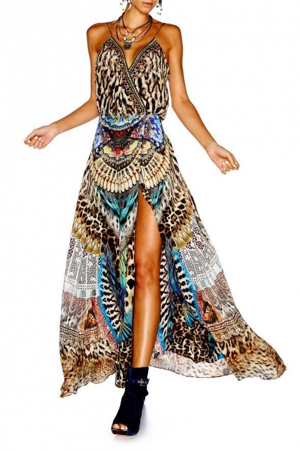 Camilla - Fan Of The Wild Strappy Wrap Dress