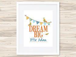 Dream Big Personalised Print - Boys
