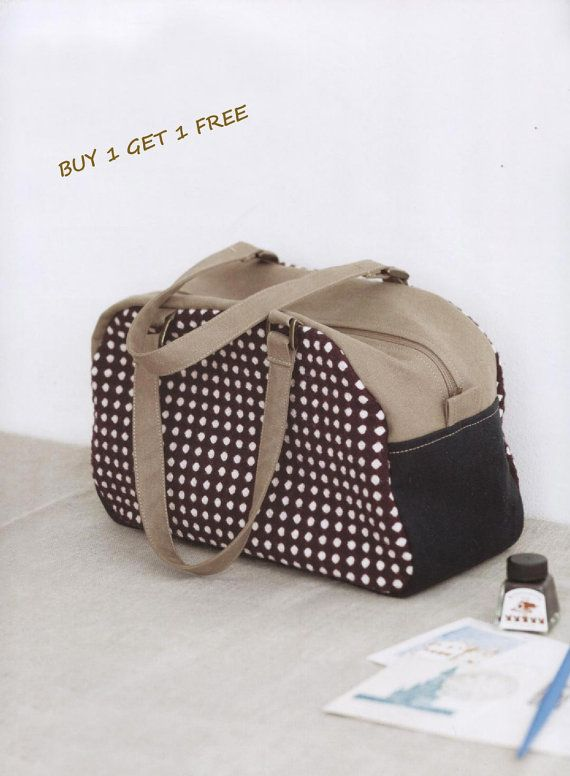 PDF Pattern Tote Shoulder duffle Boston bag by Patternsinlove, $5.00