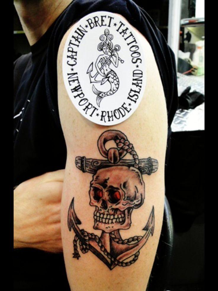 Anchortattoo tattoosbycaptainbret newportrhodeisland
