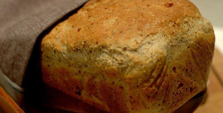 Brøddeigen jeg fikk til! Grovbrød med frø og nøtter, lett å lage, veldig godt.