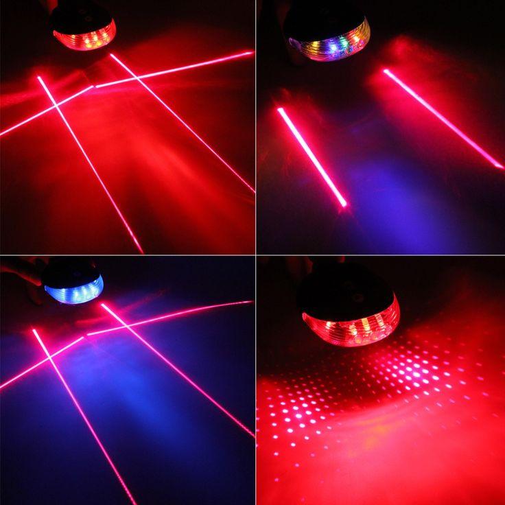 5 LED Laser Beam MTB Mountain Bicycle Bike Rear Tail Warning Lamp Light Hot Sale