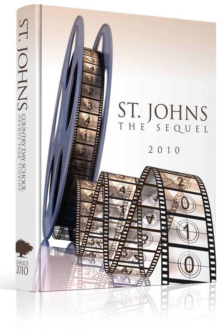 "Yearbook Cover - St. Johns Country Day School - ""The Sequel"" - Movie, Reel…"