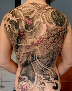 33 Japanese Phoenix Tattoo on back