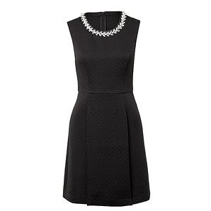 Embellished Neckline Quilted Dress – Target Australia $30? Are you kidding me? Classy and cheap as chips. Wear with your good jacket and you'll look a million bucks.