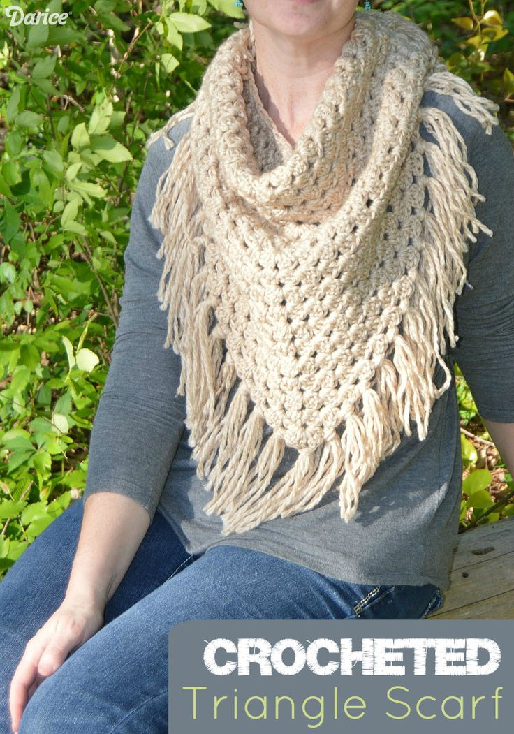 Scarves are perfect for the transitioning seasons! Crochet up this triangle scarf pattern for extra layer that can be easily removed when it gets warmer.