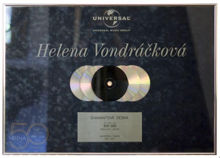 HELENA 50 LET NA SCÉNĚ | Diamantová deska Universal Music