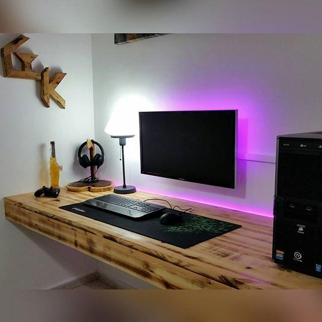 Elegant Computer Desk Setup The Best Ideas About Gaming Setup On Pinterest Computer Setup – Latest Computer Desk Setup # Corner Sofa