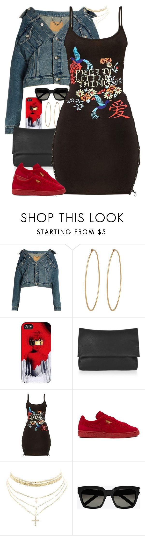 """""""Untitled #1628"""" by power-beauty ❤ liked on Polyvore featuring Balenciaga, Social Anarchy, Topshop, Pretty Little Thing, Puma, Charlotte Russe and Yves Saint Laurent"""