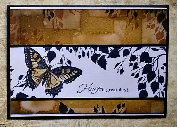 Butterfly card for Australian Simply cards mag...issue 79