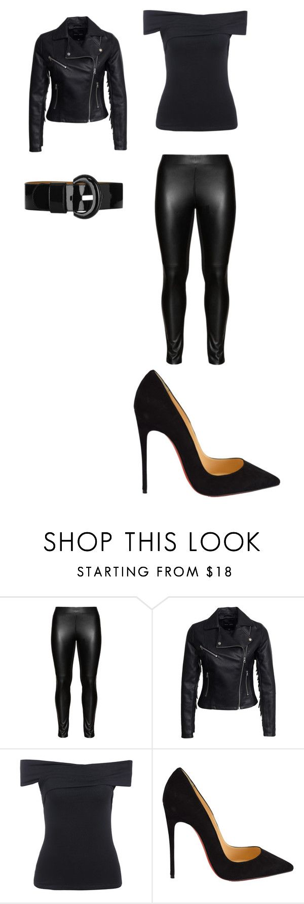 """""""Sandy from Grease"""" by alisonpare ❤ liked on Polyvore featuring mode, Studio, New Look, Christian Louboutin et Karen Millen"""