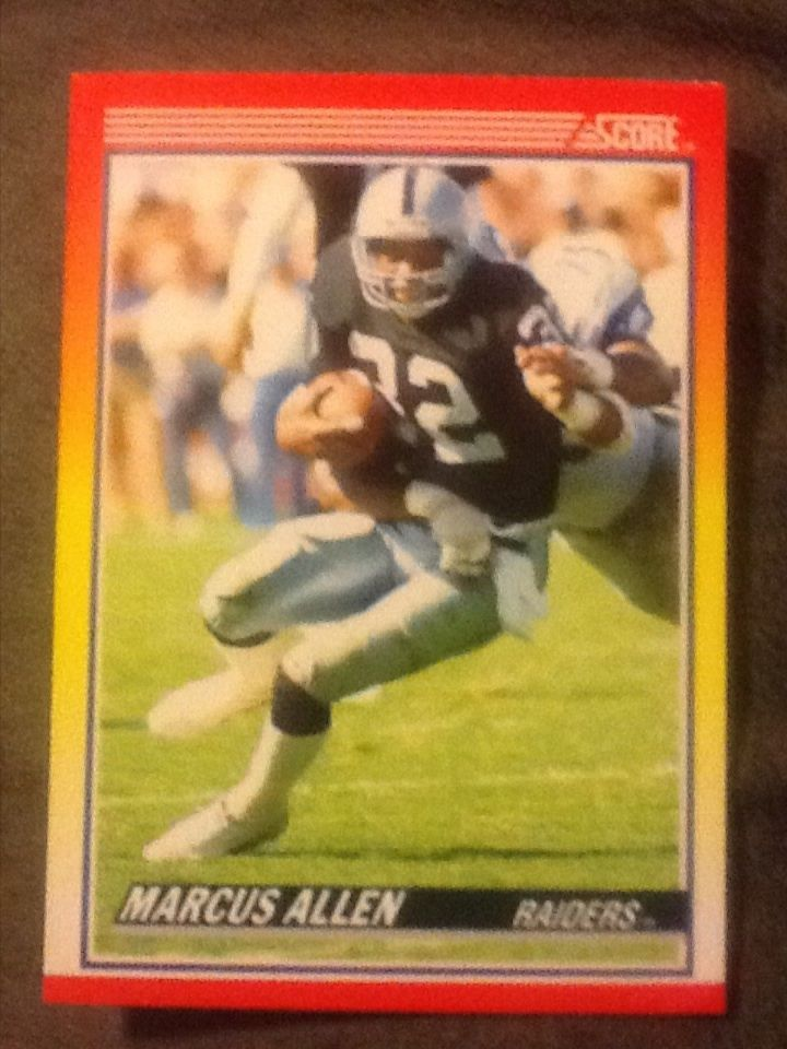 1990 Score Marcus Allen Football Card #230 Los Angeles Raiders #LosAngelesRaiders