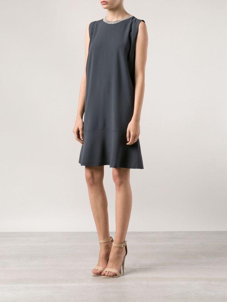 Brunello Cucinelli Jeweled Neck Dress - Mario's - Farfetch.com
