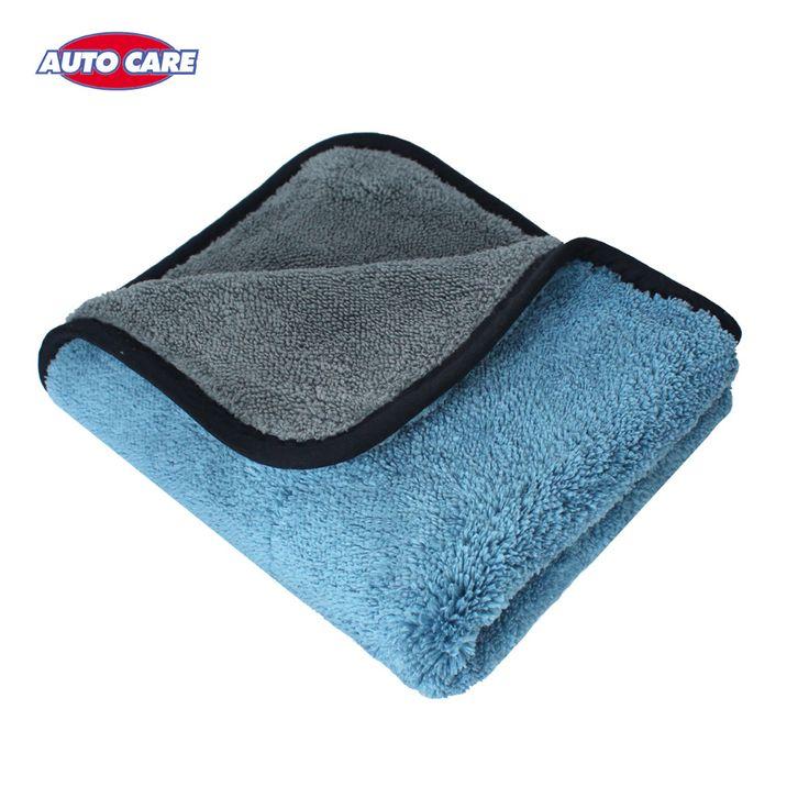 Auto cuidado de 1 unid 800gsm 45 cm x 38 cm grueso estupendo de la felpa de microfibra car care trapo de limpieza del coche de microfibra cera pulido detailing toalla