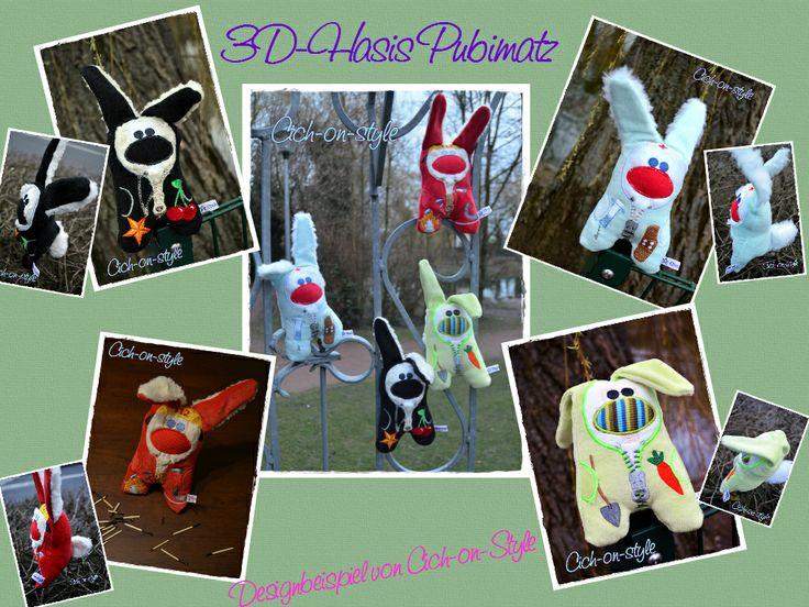 Passend zu Ostern gibt es neue 3D hasen :) die Datei gibt es hier: http://de.dawanda.com/product/59715851-ITH-Stickdatei-Der-3d-HASI#product_gallery