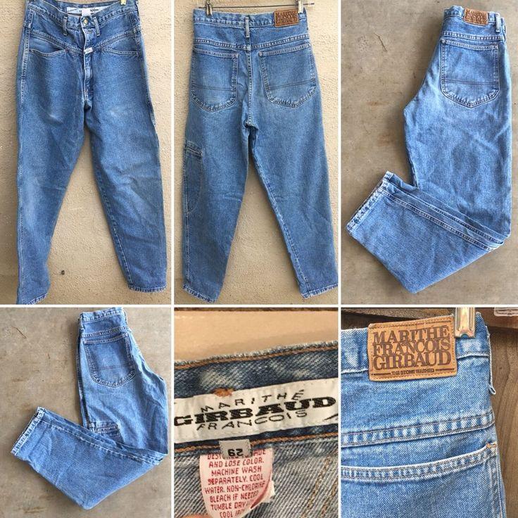 Vintagr Marithe Francois Girbaud Jeans High Waiat Tapwed Leg Sz 29 Made In USA   | eBay
