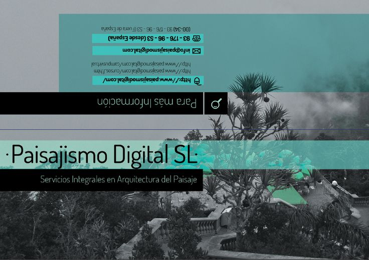 Cover and back for a Digital Landscape Course webpage brochure. Exposed at Iberflora 2014, Spain.