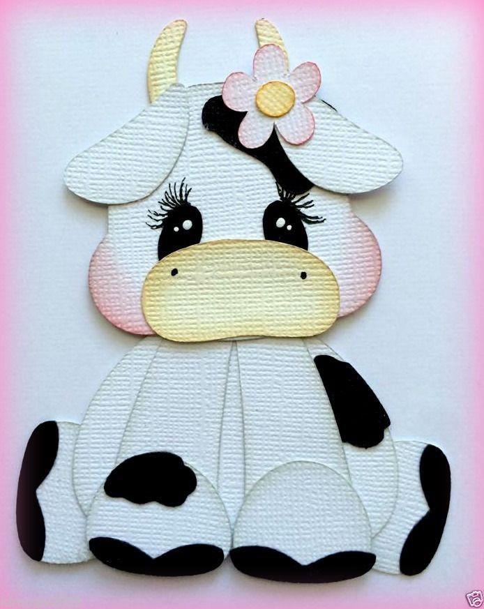premade БЕЛЫЙ КОРОВА фермы животное Teeny сокровище шитье по бумаге мои слезы медведи Кира in Рукоделие, Скрапбукинг и поделки из бумаги, Шитье по бумаге   eBay