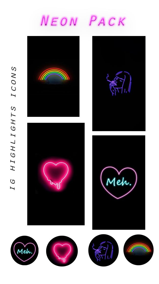 Visuals Pink Neon Sign Instagram Icons Instagram Creative